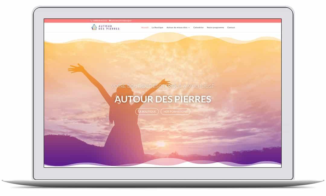 Création du site web de AUTOUR DES PIERRES par G&M Communication Strasbourg