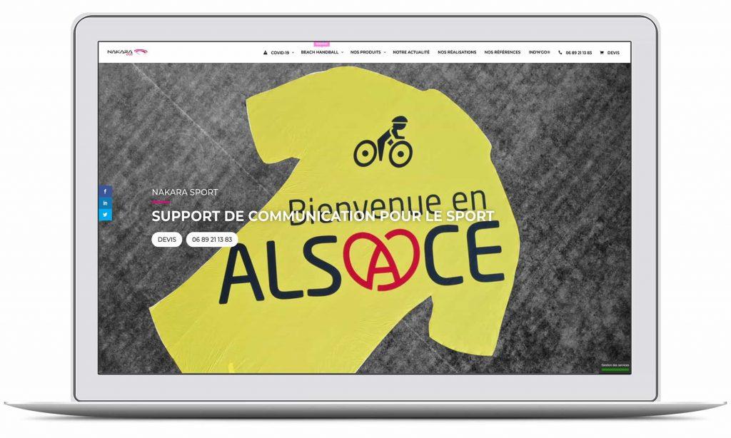 Création du site web de NAKARA SPORT par G&M Communication Strasbourg