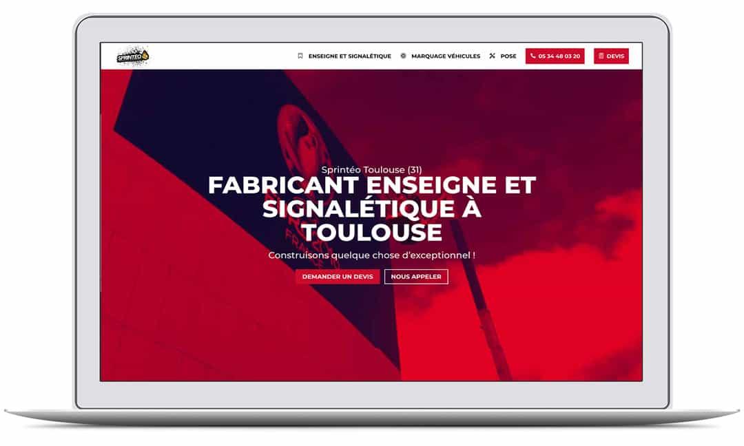 Création du site web de SPRINTEO ENSEIGNE par G&M Communication Strasbourg