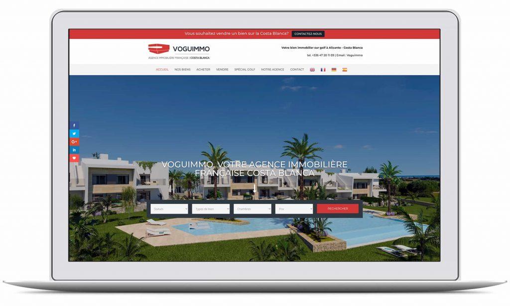 Création du site web de VOGUIMMO par G&M Communication Strasbourg